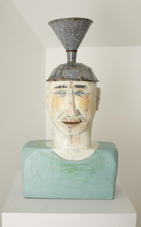 Funnel Head, Enamel and wood